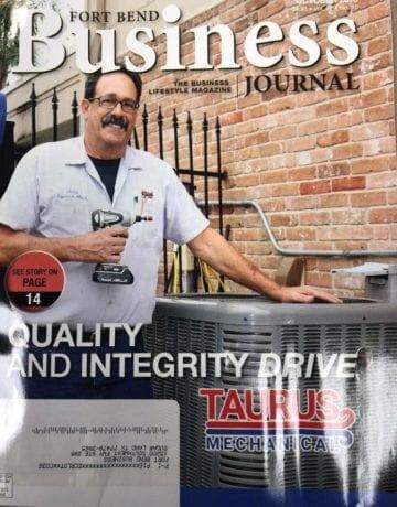Taurus Mechanical John Theriot in Fort Bend Business Journal Taurus Mechanical